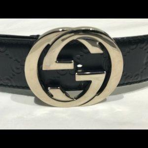577d682de58 Gucci Accessories - Gucci Belt Black Guccissima Interlocking GG 114876